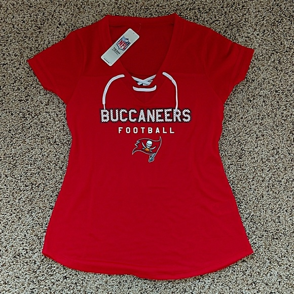 ccd396d8 NFL Buccaneers Football Women's Lace-up Jersey NWT